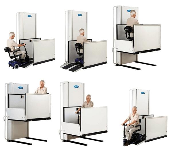 wheelchair vertical lift platform
